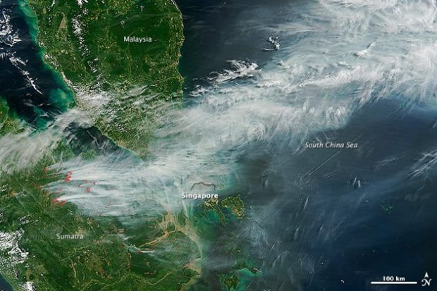 haze map